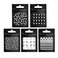 Pack 5 Stickers Surtidos Para Uñas