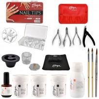 Polvos Acrílicos + Tips + Líquido para Esculpir + Primer + Accesorios