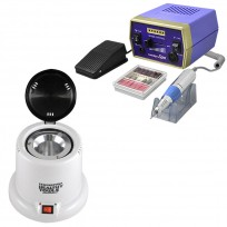 Combo Torno Drill 288 TekniKpro Spa + Esterilizador Profesional Healthy Tools