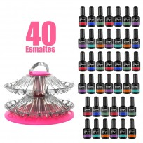 Combo 40 Esmaltes On Off Thuya + Exhibidor de Esmaltes de Regalo!