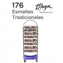 Exhibidor de Esmaltes de 8 Bandejas + 176 esmaltes Tradicionales Thuya