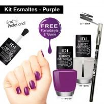 Kit Esmalte Purple + Delineador de Ojos