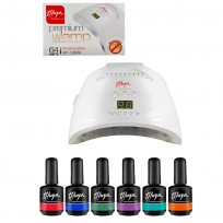 6 Esmaltes Semipermanentes Thuya + Cabina LED UV Premium