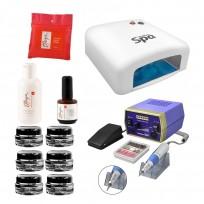 Combo Para Construcción de Uñas en Gel + Cabina UV