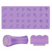 Stamping placa de silicona + sello