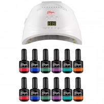 12 Esmaltes Semipermanentes On Off + Cabina LED UV Premium Thuya