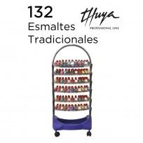 Exhibidor de 6 Bandejas Completo con Esmaltes Tradicionales Thuya