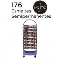 Exhibidor de Esmaltes de 8 Bandejas + 176 Esmaltes Semipermanentes Meliné