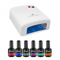 Cabina UV Easy Nail 36W + 6 Esmaltes Semipermanentes Gel On Off