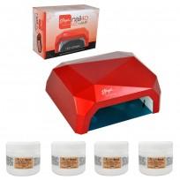 Combo 4 Geles Lightbox + Cabina LED UV 40W Thuya
