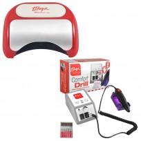 Combo Torno Comfort Drill + Cabina LED-UV Plus Thuya