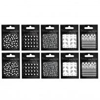 Pack 10 Stickers Surtidos Para Uñas
