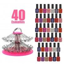Combo 40 Esmaltes Meliné + Exhibidor de Esmaltes de Regalo!!